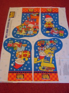 Bob The Builder Christmas Stocking Panel