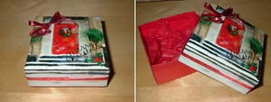 Into This Christmas Card Gift Box