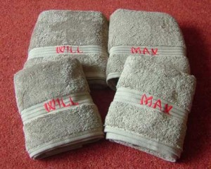 Personalised New Baby Gift Towels