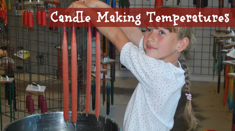 candle melting & puring temperatures