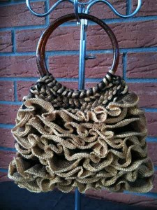 Finished Salsa Ribbon Yarn Bag