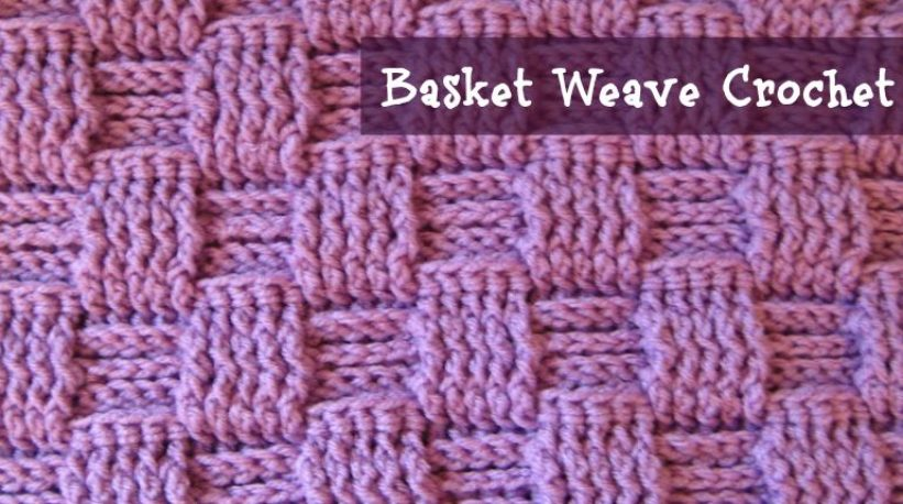 Crochet Stitches Basket : Basket Weave Stitch - Crochet Tutorial Craft Making Ideas