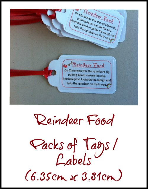 Tags For Christmas Reindeer Food