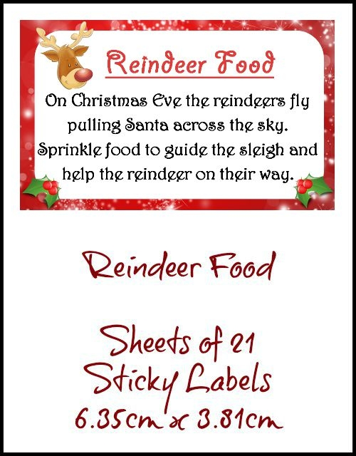 Magic Reindeer Food Labels Related Keywords & Suggestions - Magic ...