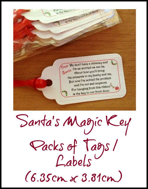 Christmas Magic Key Tags or Labels