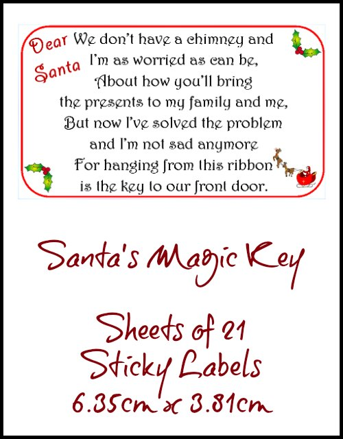 Santas Magic Key Sticky Labels