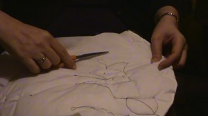 Pulling Threads Through And Knotting