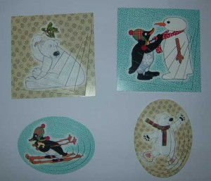 3D Die-Cut Christmas Decoupage