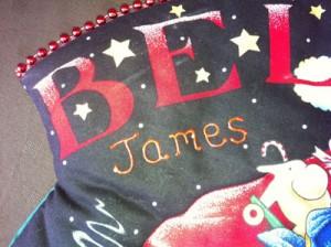 Personalised Christmas Stocking - James