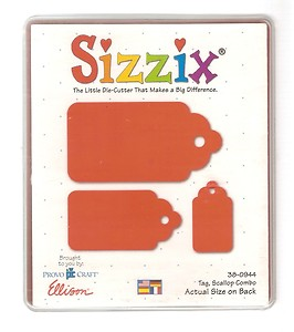 Sizzix Scallop Tag Die