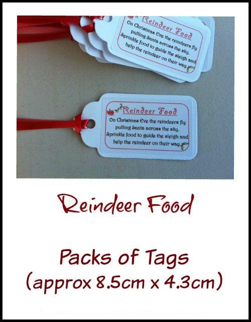 Tags Christmas Reindeer Food Bag