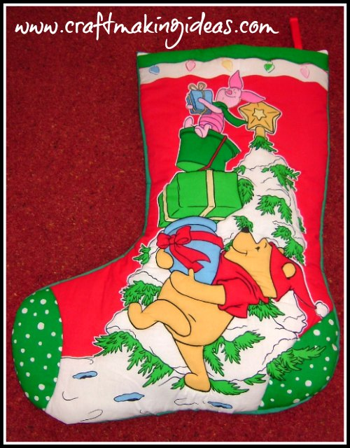 Winnie The Pooh Themed Christmas Stocking