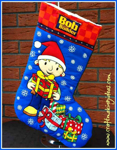 Medium Bob The Builder Wendy Themed Christmas Stocking Craft Making Ideas