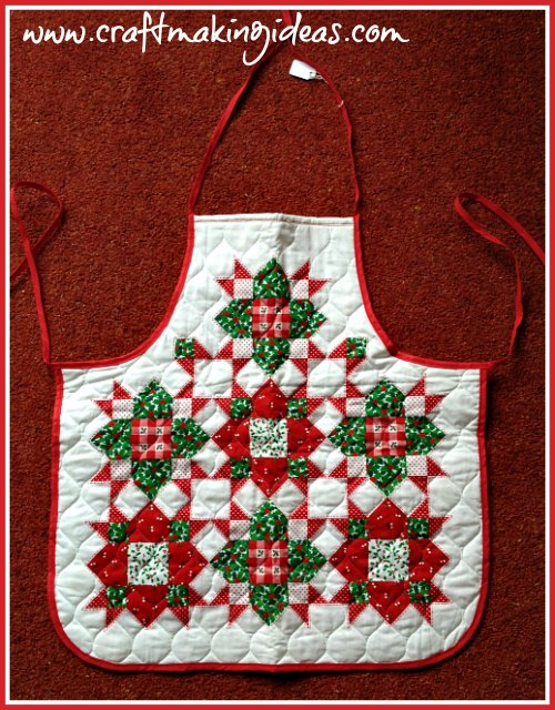 Adult Quilted Christmas Apron
