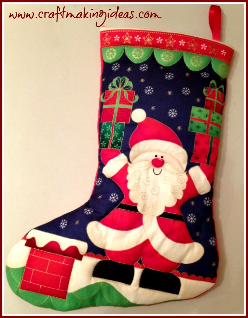 Makower Father Christmas With Presents Christmas Stocking