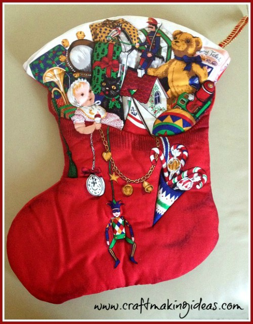 Personalised Quilted Fabric Christmas Stocking