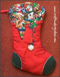 Large Personalised Quilted Christmas Stocking