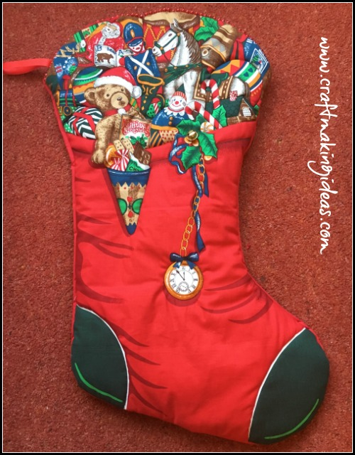large toy themed quilted christmas stocking with bell - Large Christmas Stockings
