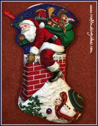 Father Christmas Themed Large Christmas Stocking