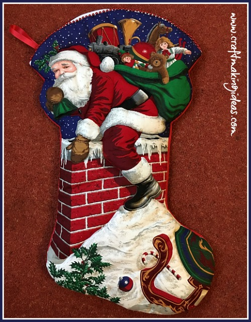 large father christmas themed quilted christmas stocking - Large Christmas Stockings