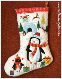 Pengiun Themed Christmas Stocking Medium