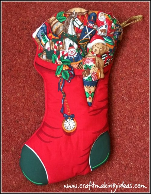 Toy Themed Christmas Stocking Medium