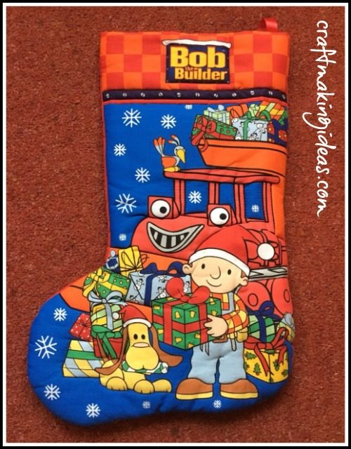 Bob The Builder Bob & Muck Quilted Christmas Stocking