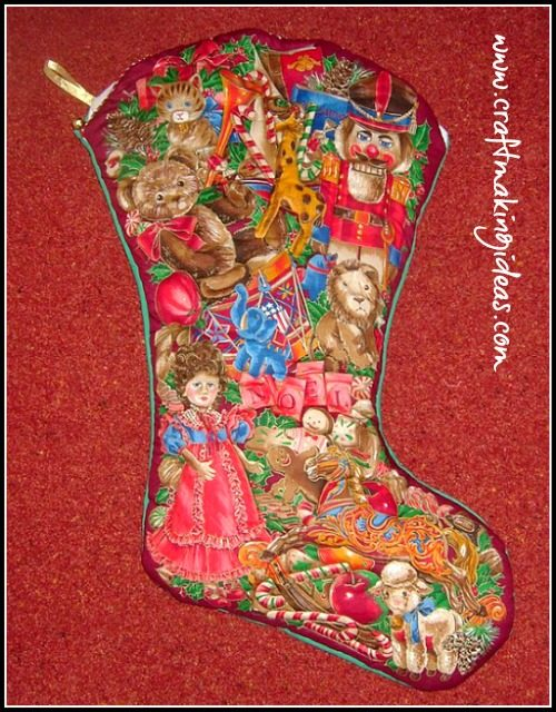 Toyland Large Quilted Christmas Stocking