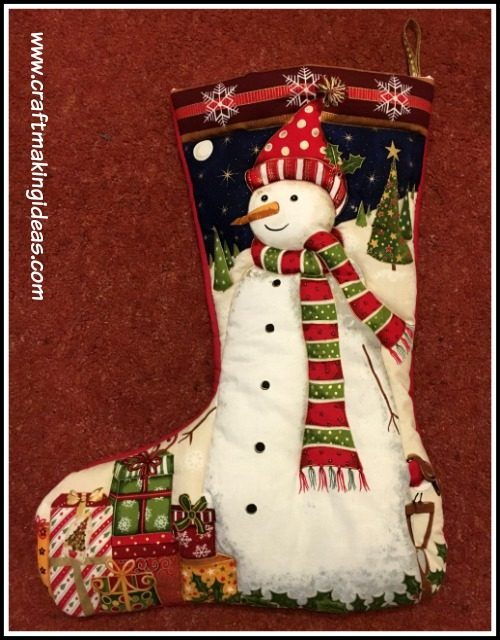 Snowman Quilted Christmas Stocking