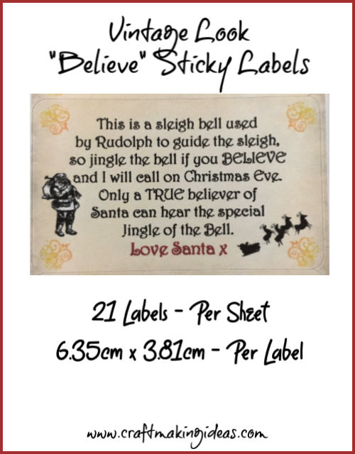 Logistiek en transport Christmas Bells Small or Large Sticky White Paper Stickers Labels NEW Professionele uitruisting